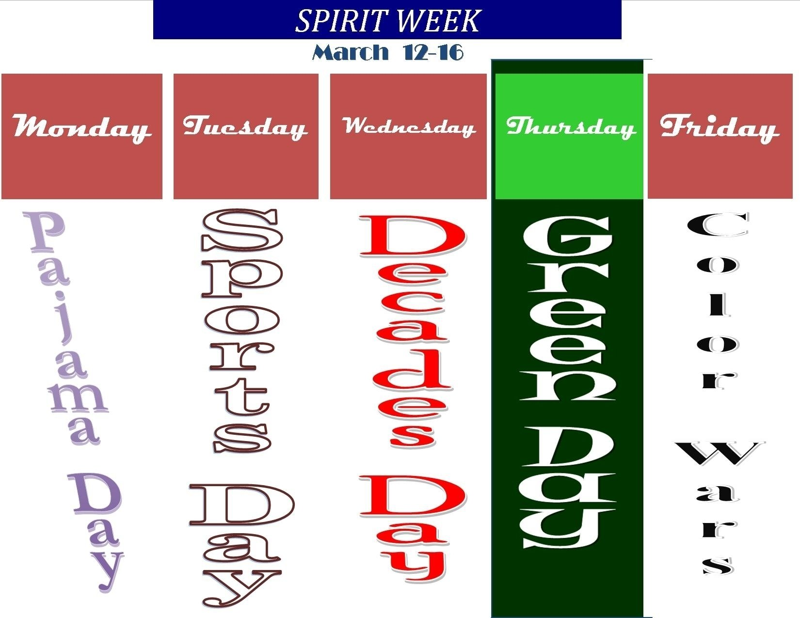 10 Unique High School Spirit Week Ideas spirit week north quincy high school 4 2021