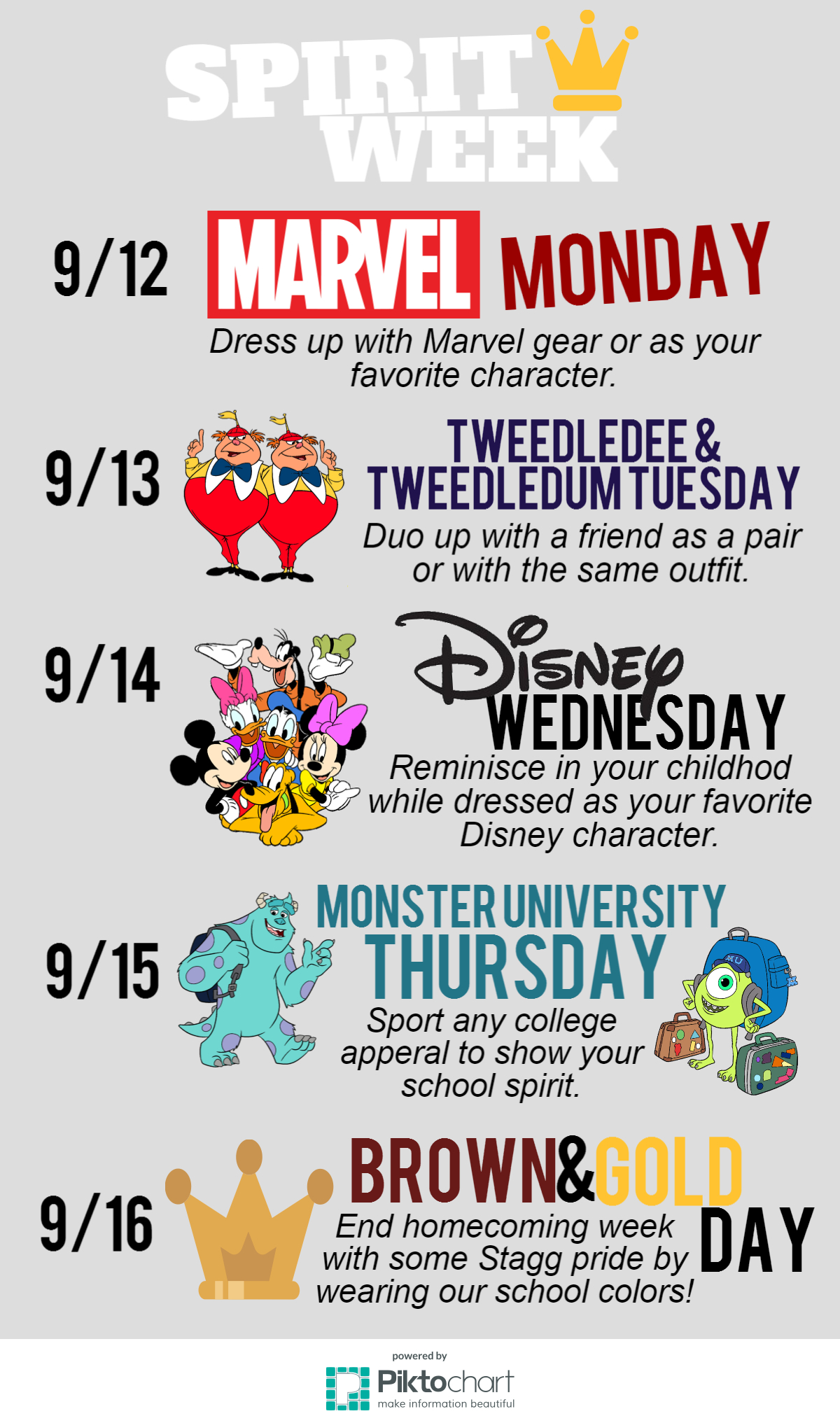 10 Spectacular High School Homecoming Week Ideas spirit week sep 15962586 fcc8d9116bf7906cca089a84c86d4200110ce9ec