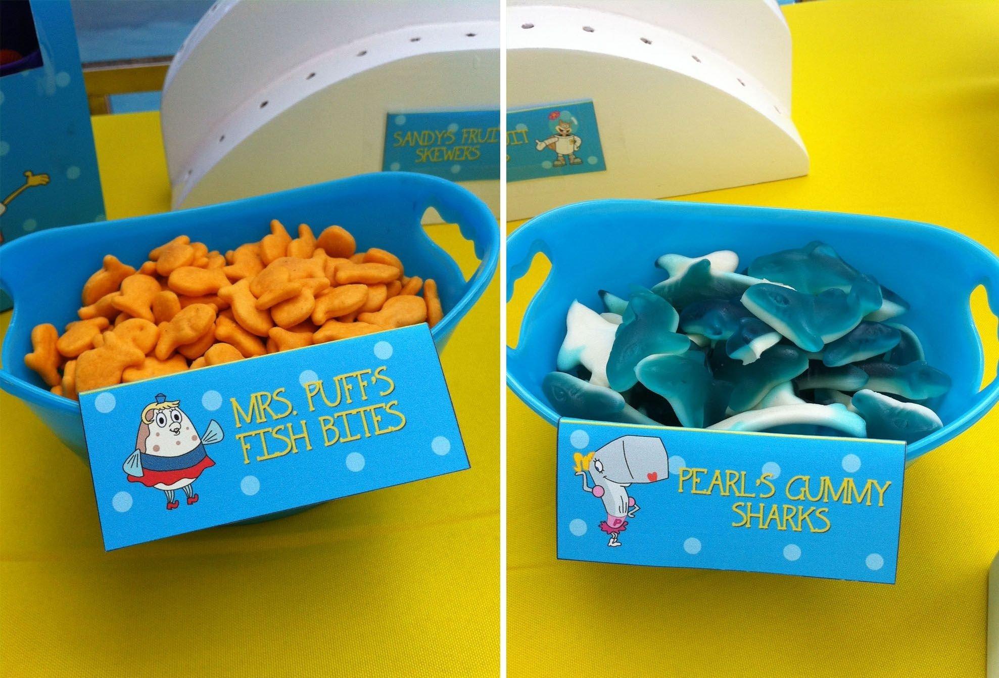 10 Trendy Spongebob Birthday Party Food Ideas spongebob birthday party food ideas fish bites and gummy sharks 2020