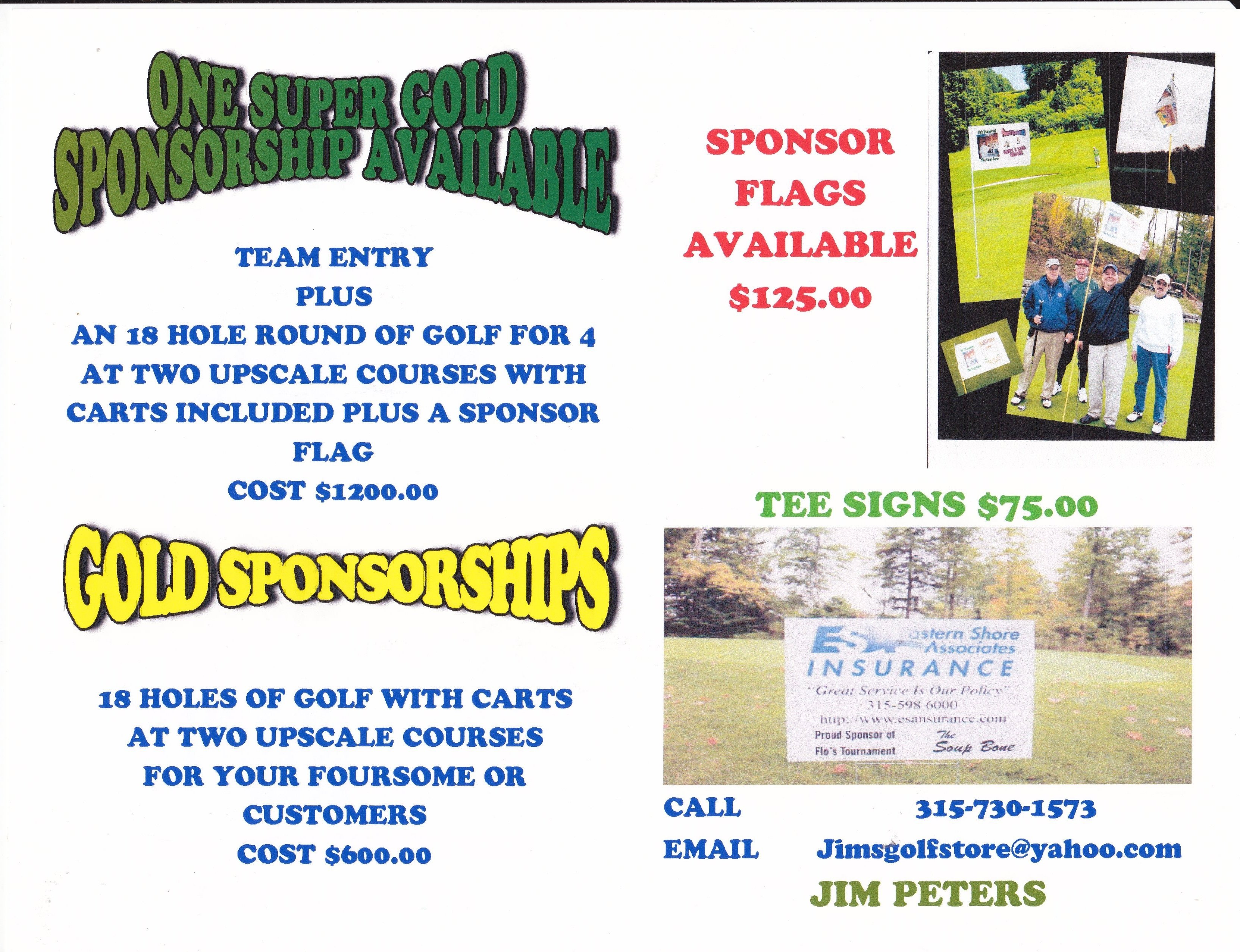 10 Nice Golf Tournament Hole Sponsor Ideas sponsorship packages available for the soup bone golf tournament