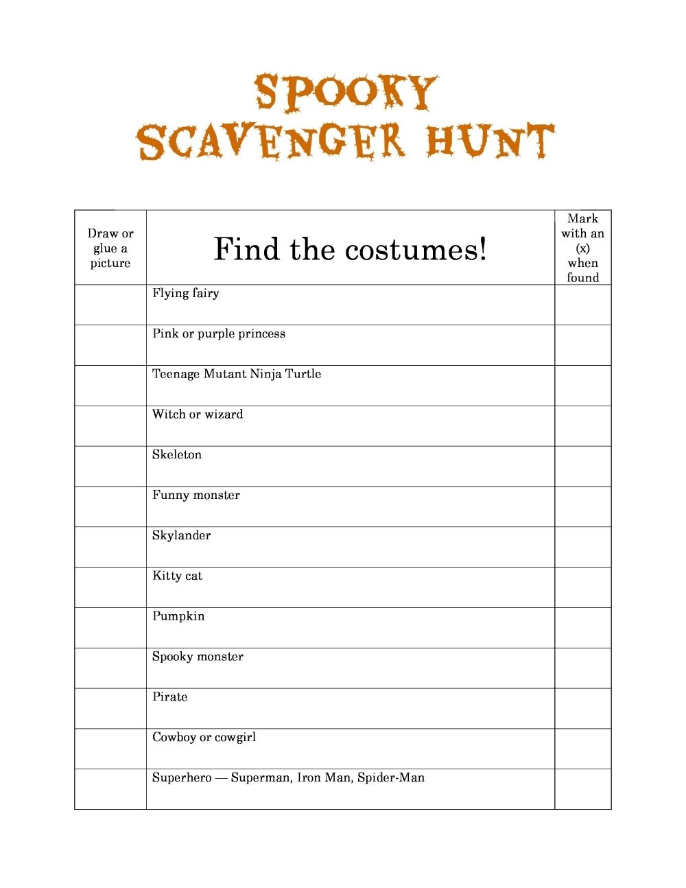 10 Elegant Around Town Scavenger Hunt Ideas spooky scavenger hunts 1 2020
