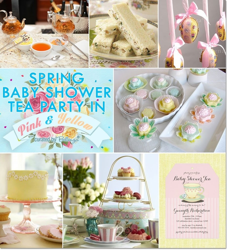 10 Wonderful Baby Shower Tea Party Ideas spring baby shower tea party in pink and yellow 2020