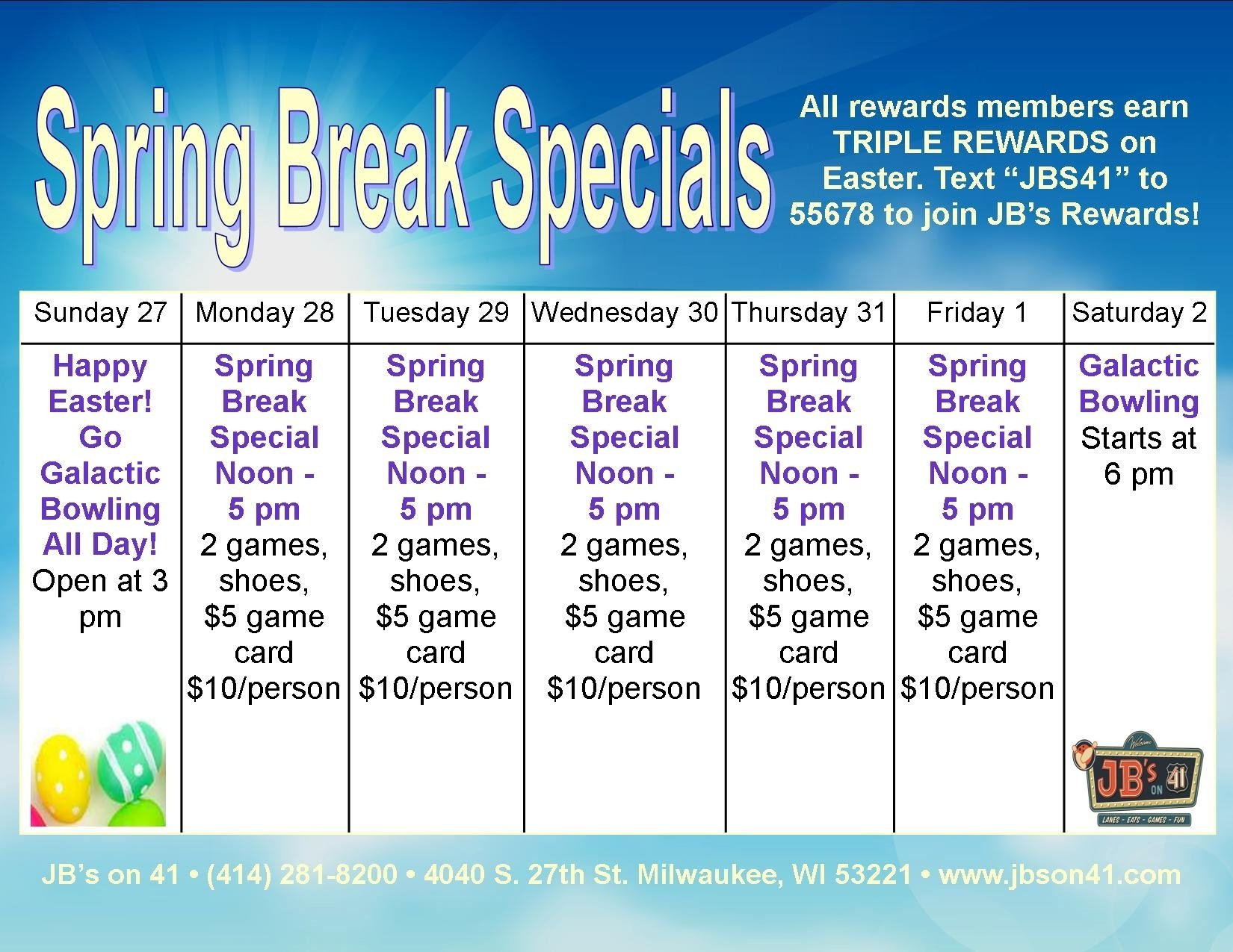 10 Attractive Spring Break Ideas For Couples spring break family specials jbs on 41 milwaukee wi 2020