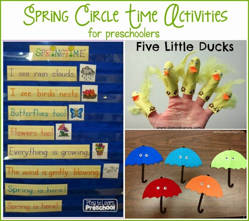 spring circle time - play to learn
