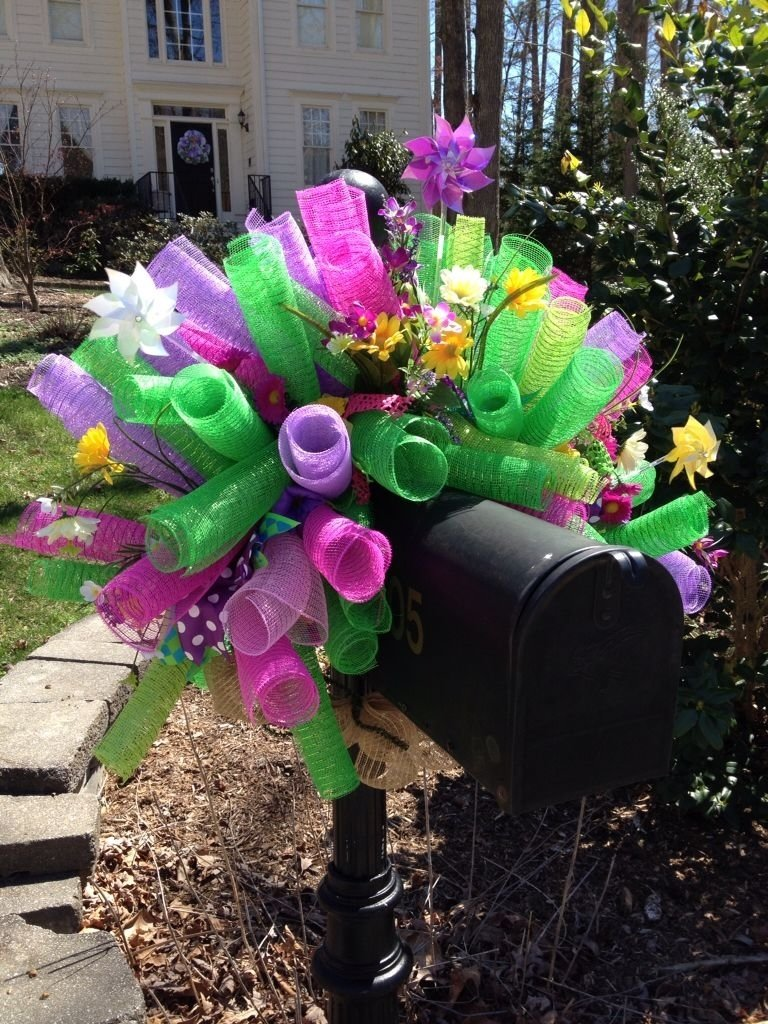 10 Fabulous Spring Deco Mesh Wreath Ideas spring deco mesh mailbox cover spring and summer deco mesh wreaths 2020