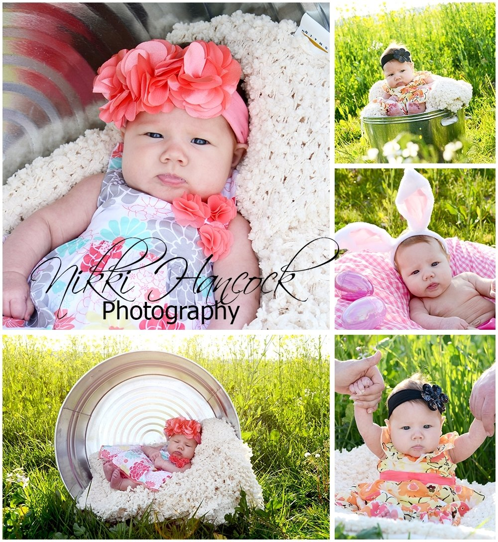 10 Elegant 3 Month Baby Photo Shoot Ideas spring easter shoot for 3 month old alyssa nikki hancock photography 2021