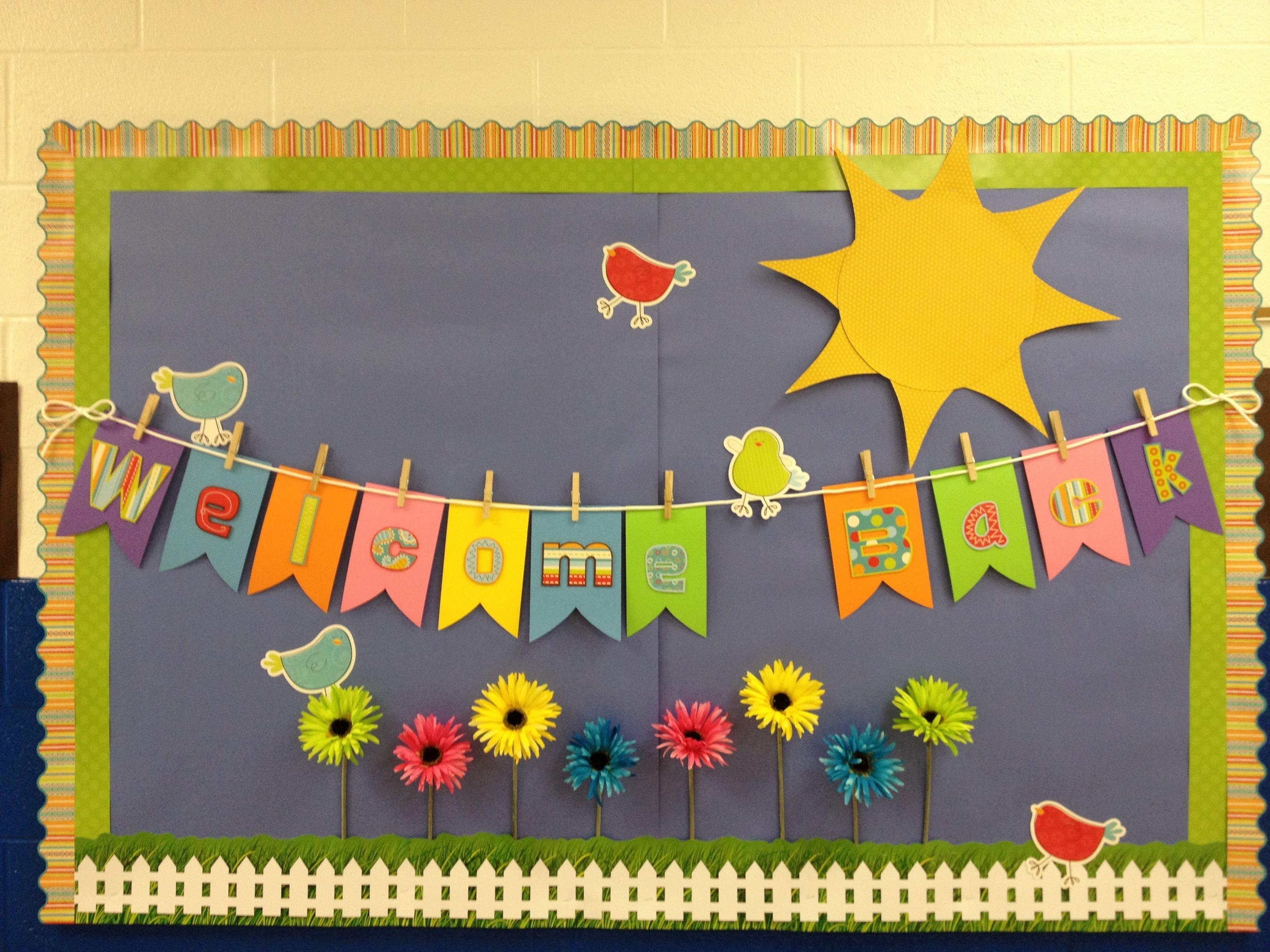 10 Elegant Bulletin Board Ideas For Back To School spring theme welcome back to school bulletin boards ideas bing 1 2021