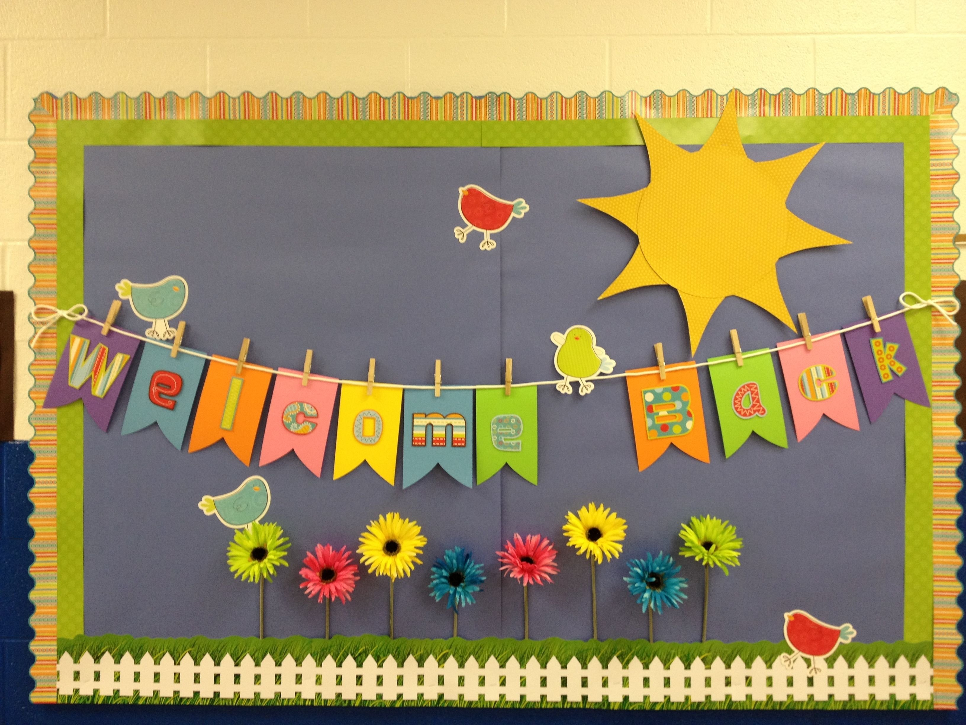 spring theme - welcome back to school bulletin boards ideas - bing