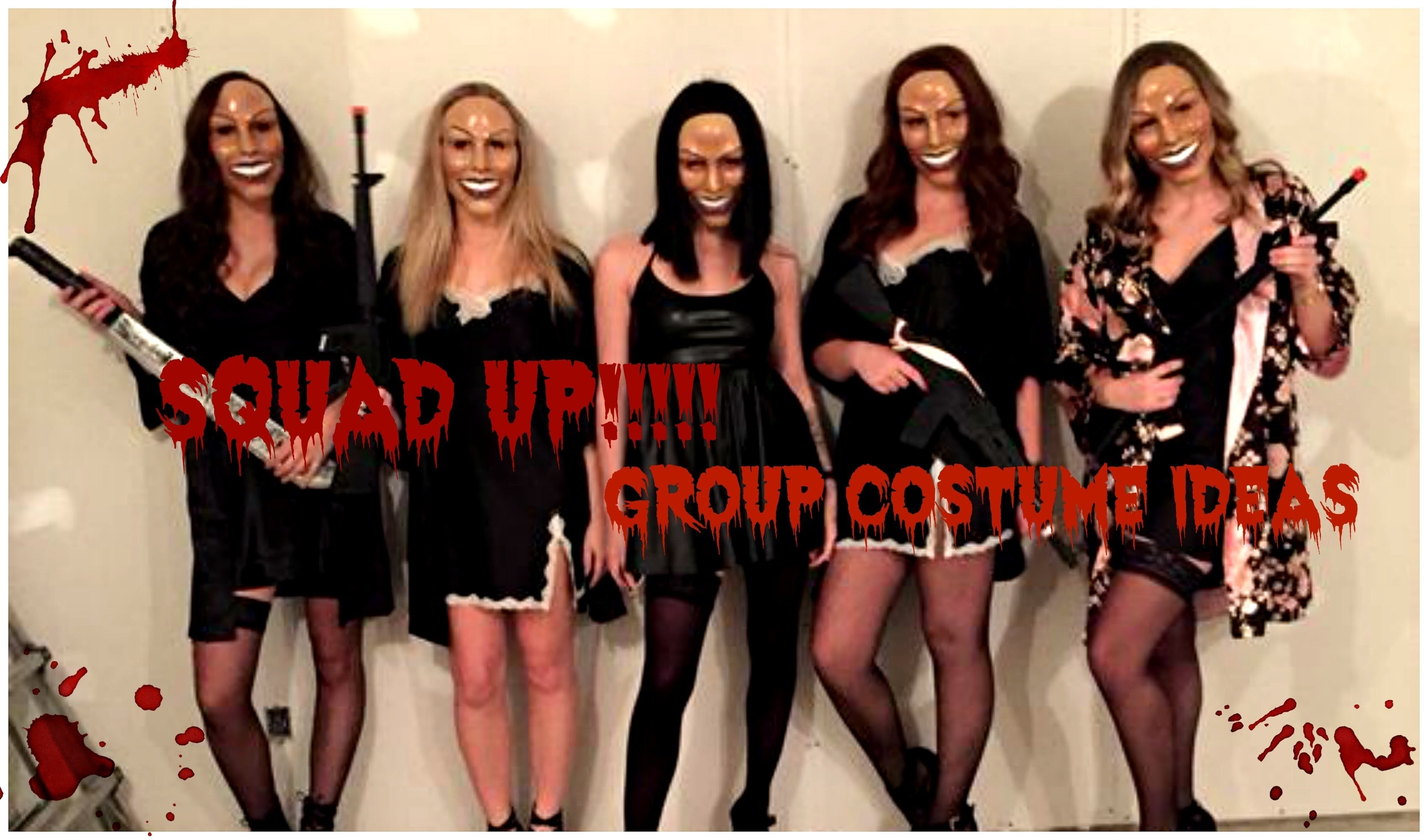 10 Lovely Group Halloween Costume Ideas For Girls squad goals group halloween costume ideas youtube 2 2020