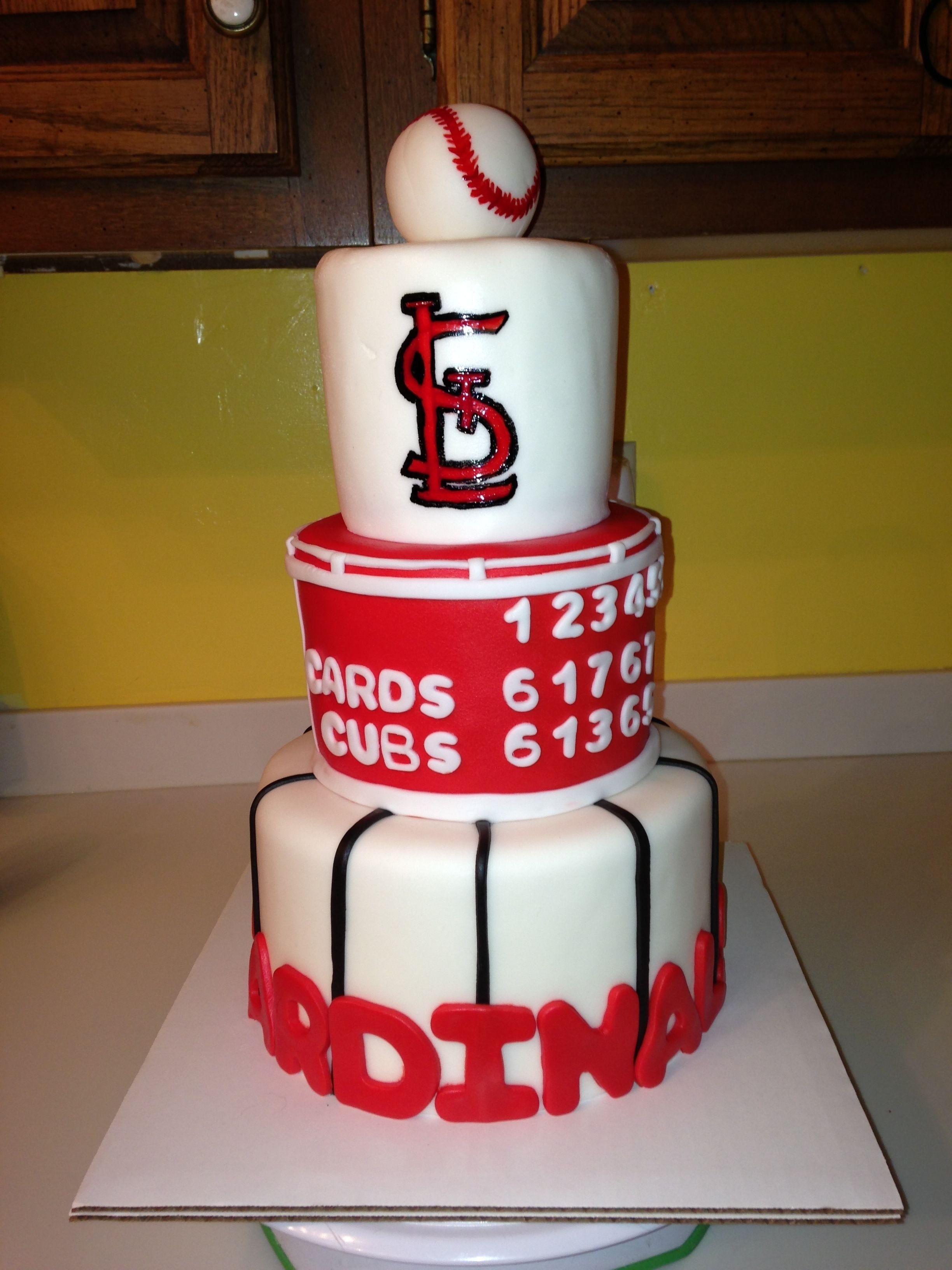 st. louis cardinals cake for a surprise bday!!! | cakes | pinterest