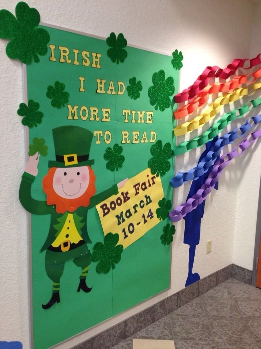 10 Amazing St Patrick Day Bulletin Board Ideas st patricks day library bulletin board irish i had more time to