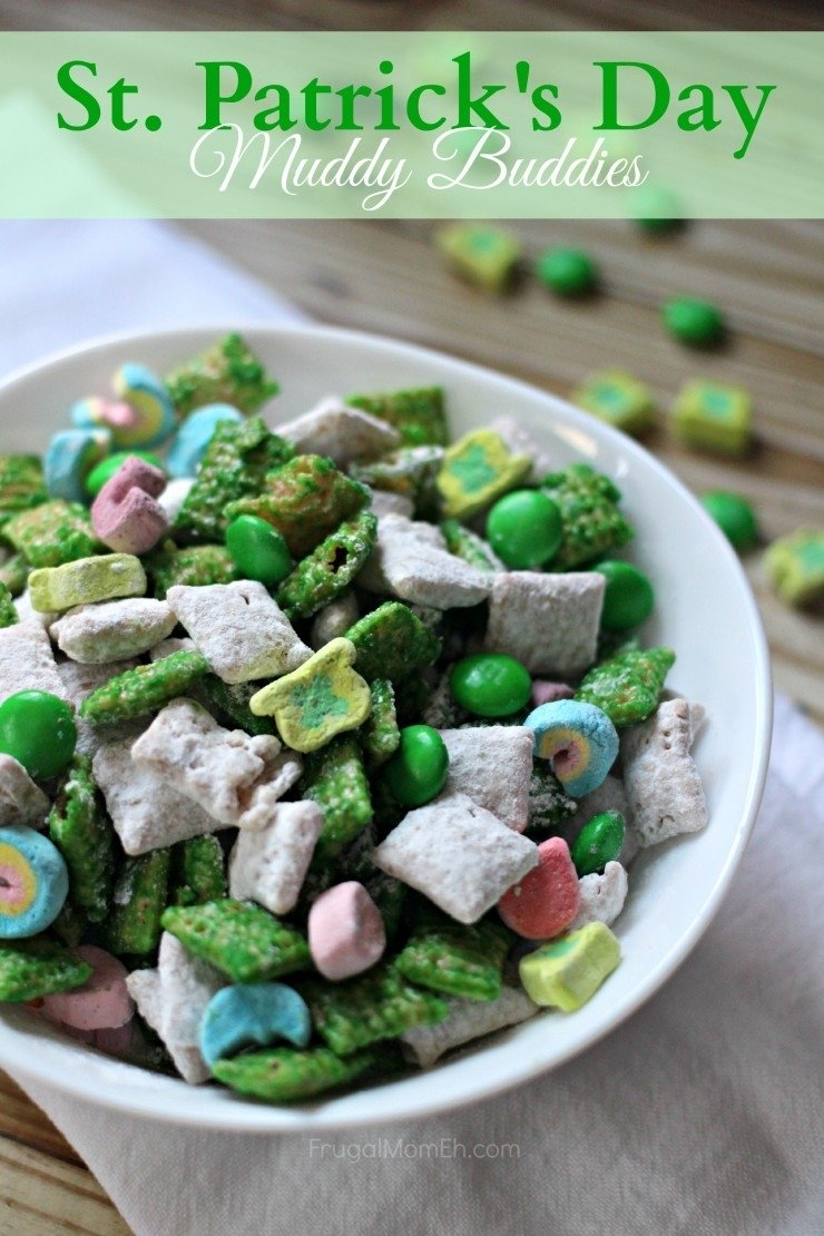 10 Elegant St Patricks Day Food Ideas st patricks day muddy buddies frugal mom eh 2020