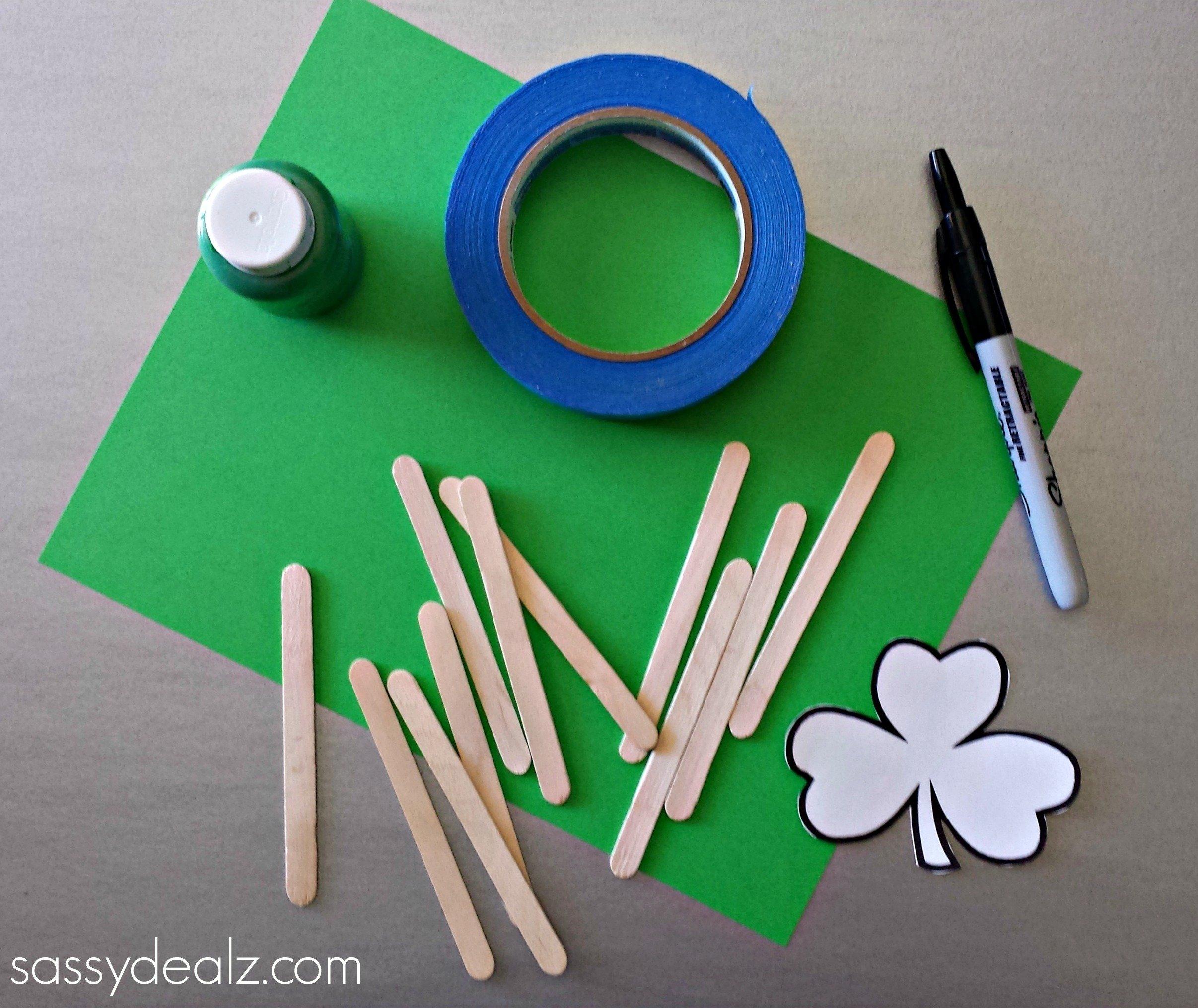 10 Lovable St Patricks Day Craft Ideas st patricks day popsicle stick craft diy puzzles crafty morning 1 2020