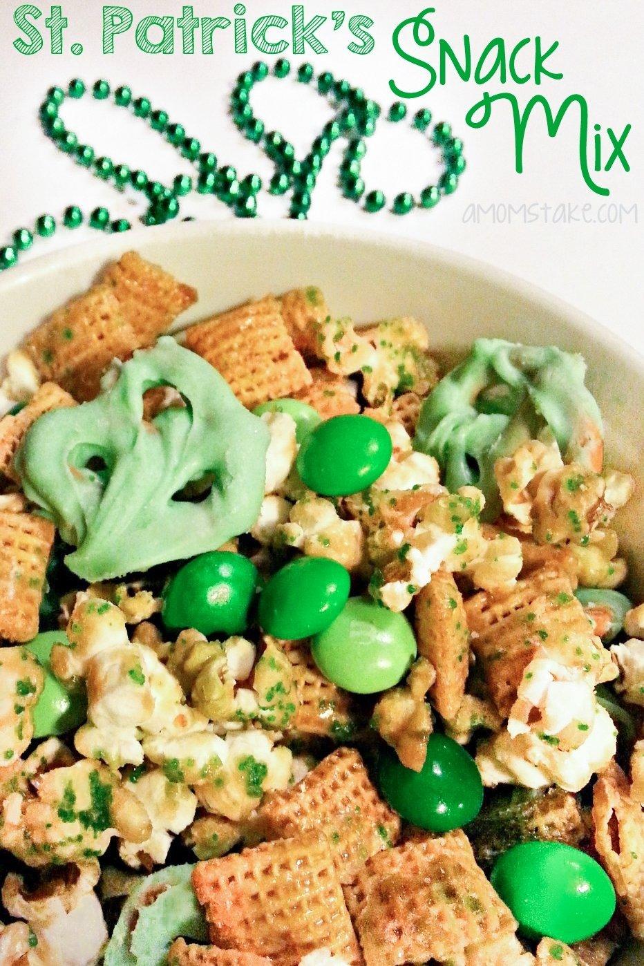 10 Stunning St Patrick Day Food Ideas st patricks day snack mix a moms take 3 2020
