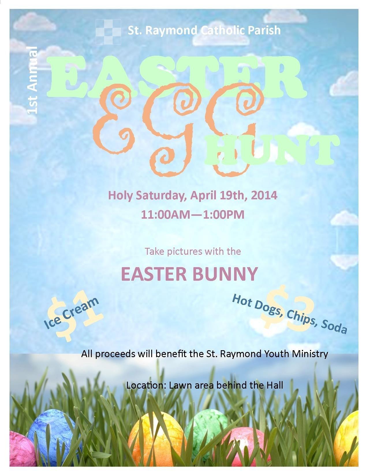 10 Beautiful Church Easter Egg Hunt Ideas st raymond catholic church free easter egg hunt apr 19 2014 2020