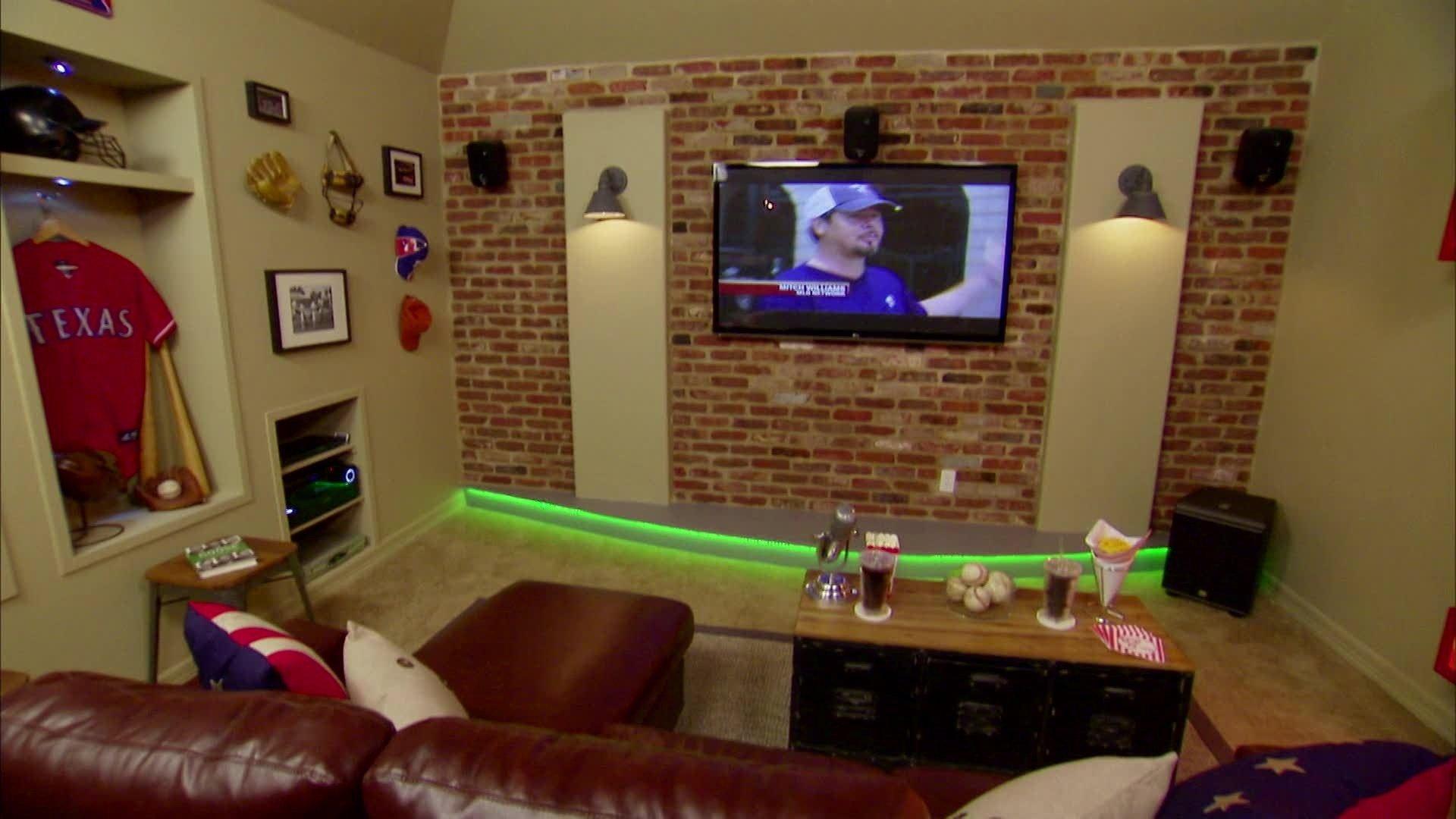 10 Attractive Man Cave Ideas Small Room stadium theater man cave video diy 1 2020