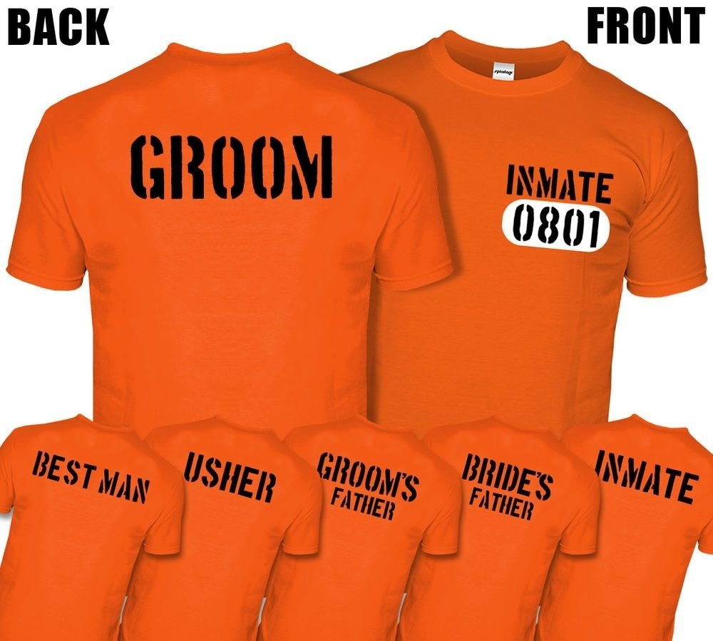 10 Ideal Bachelor Party T Shirt Ideas stag do prison inmate t shirt jail tshirt top costume groom best man 2020