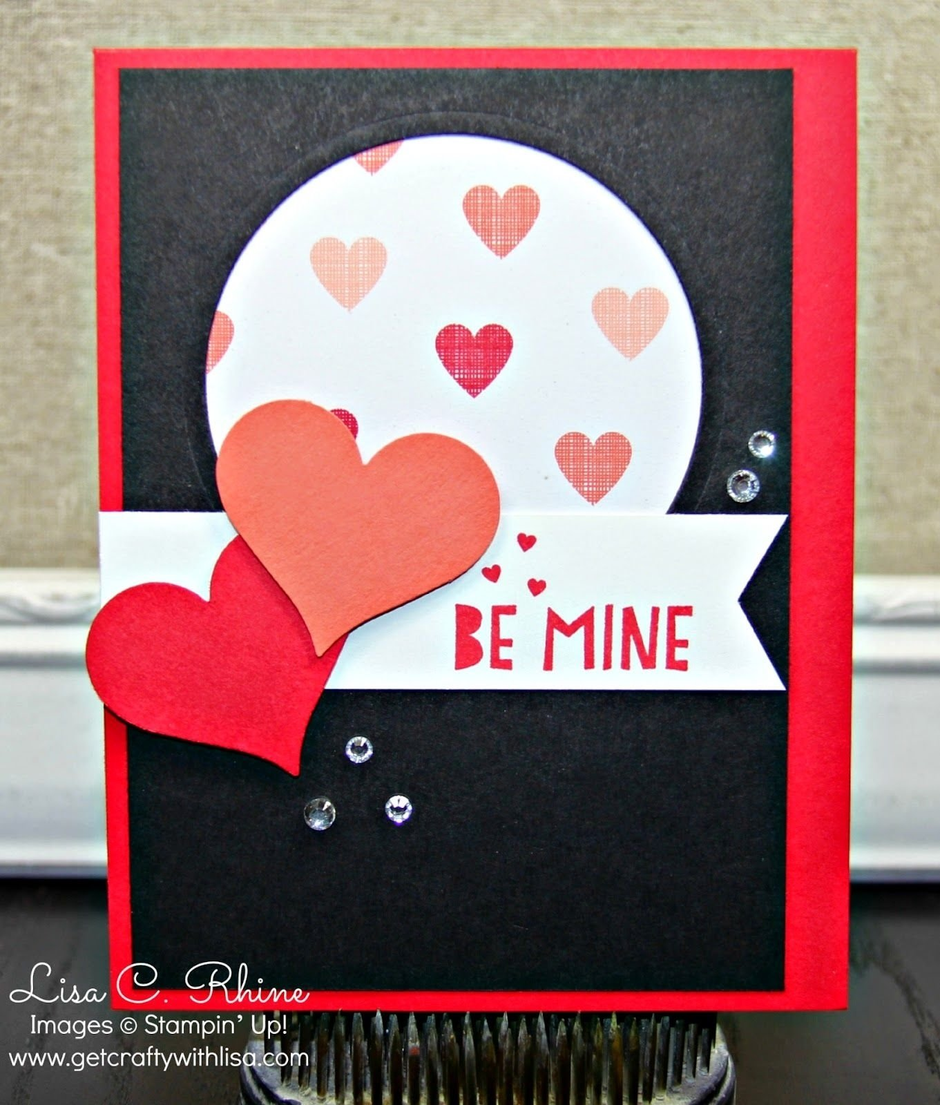 10 Fashionable Stampin Up Valentine Card Ideas stampin up handmade valentine card be mine black white 2020