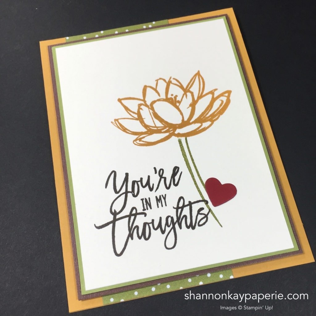 stampin' up! remarkable you thinking of you card ideas - shannon