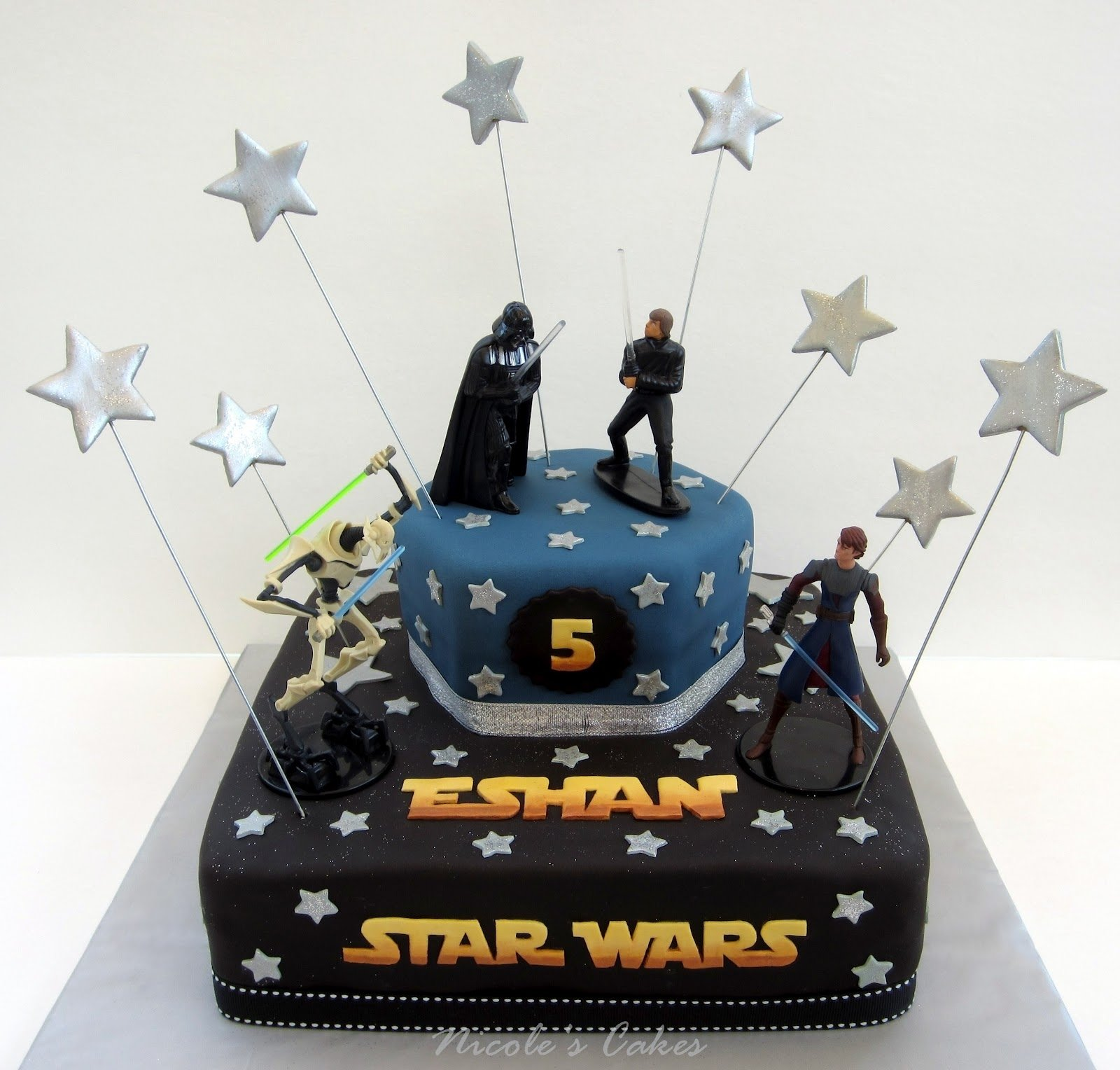 star wars cakes – decoration ideas | little birthday cakes