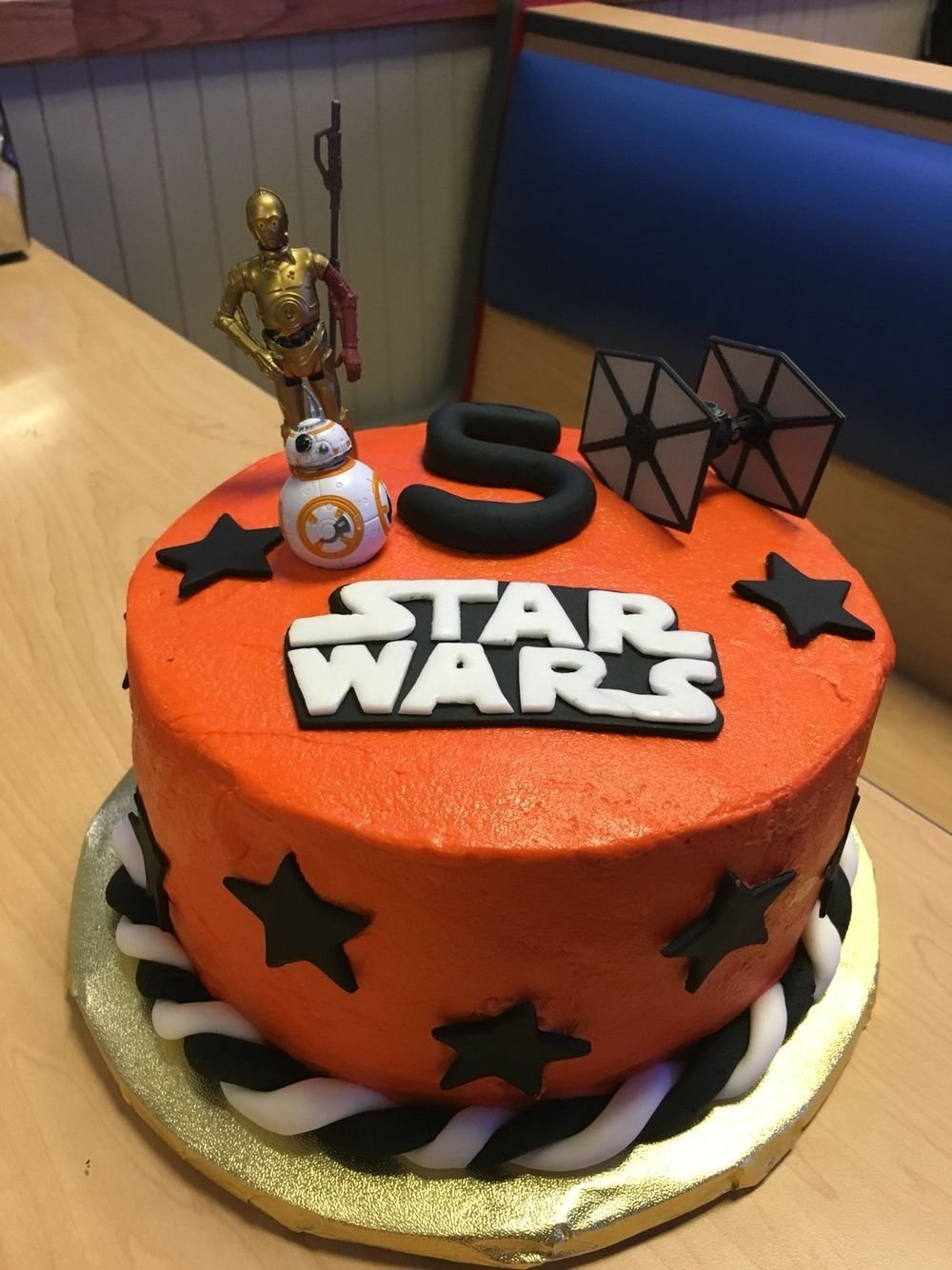 10 Nice Star Wars Birthday Cake Ideas Force Awakens Homemade Buttercream With