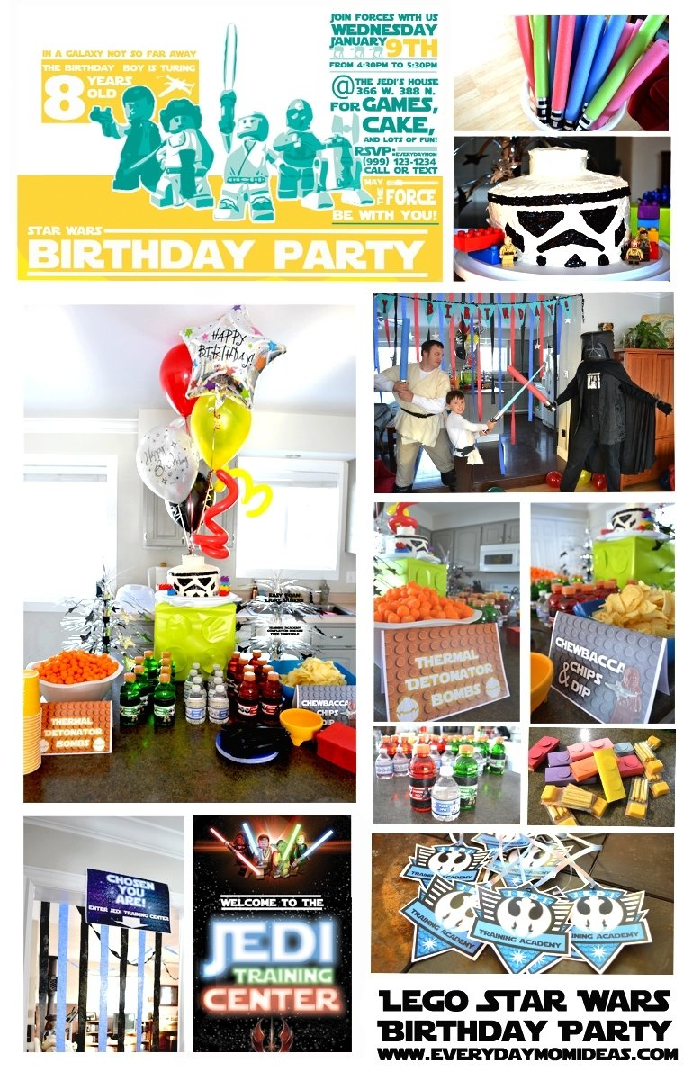 star wars lego birthday party - everyday mom ideas