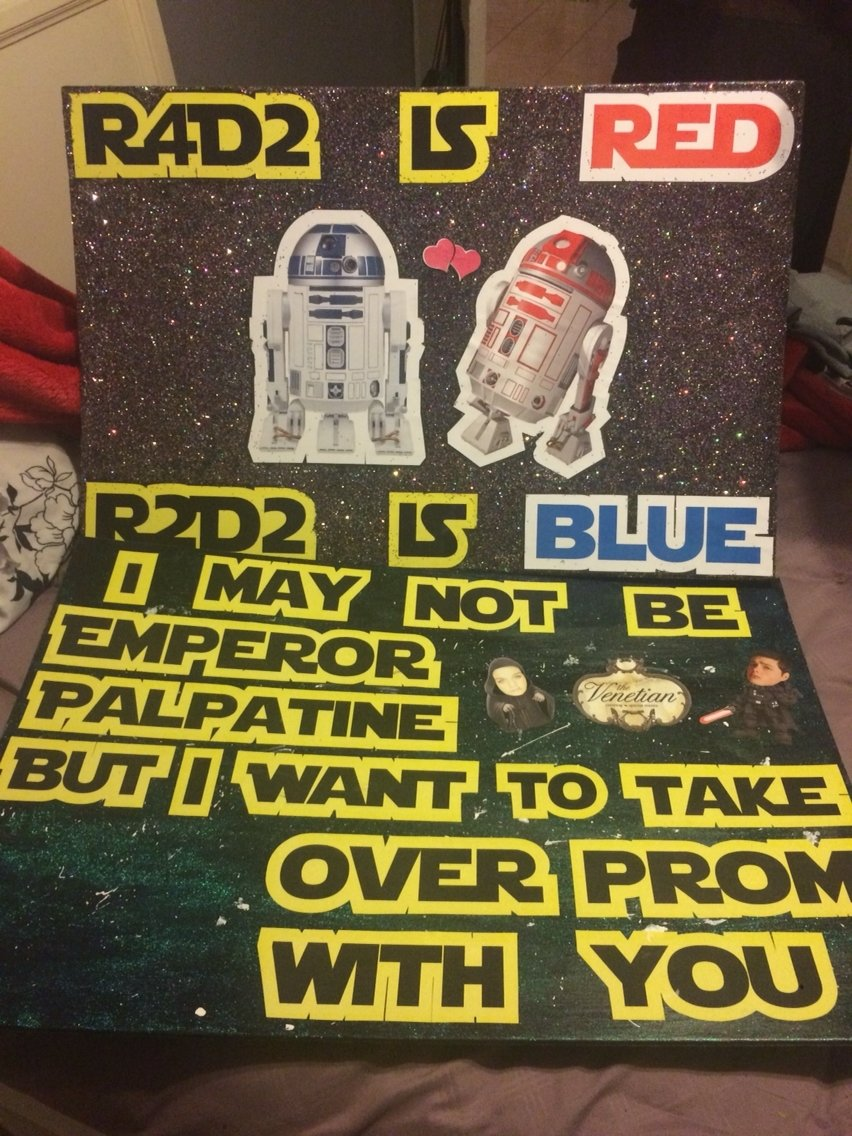 10 Lovely Ideas To Ask A Guy To Prom star wars promposal my creations pinterest promposal star and 2020