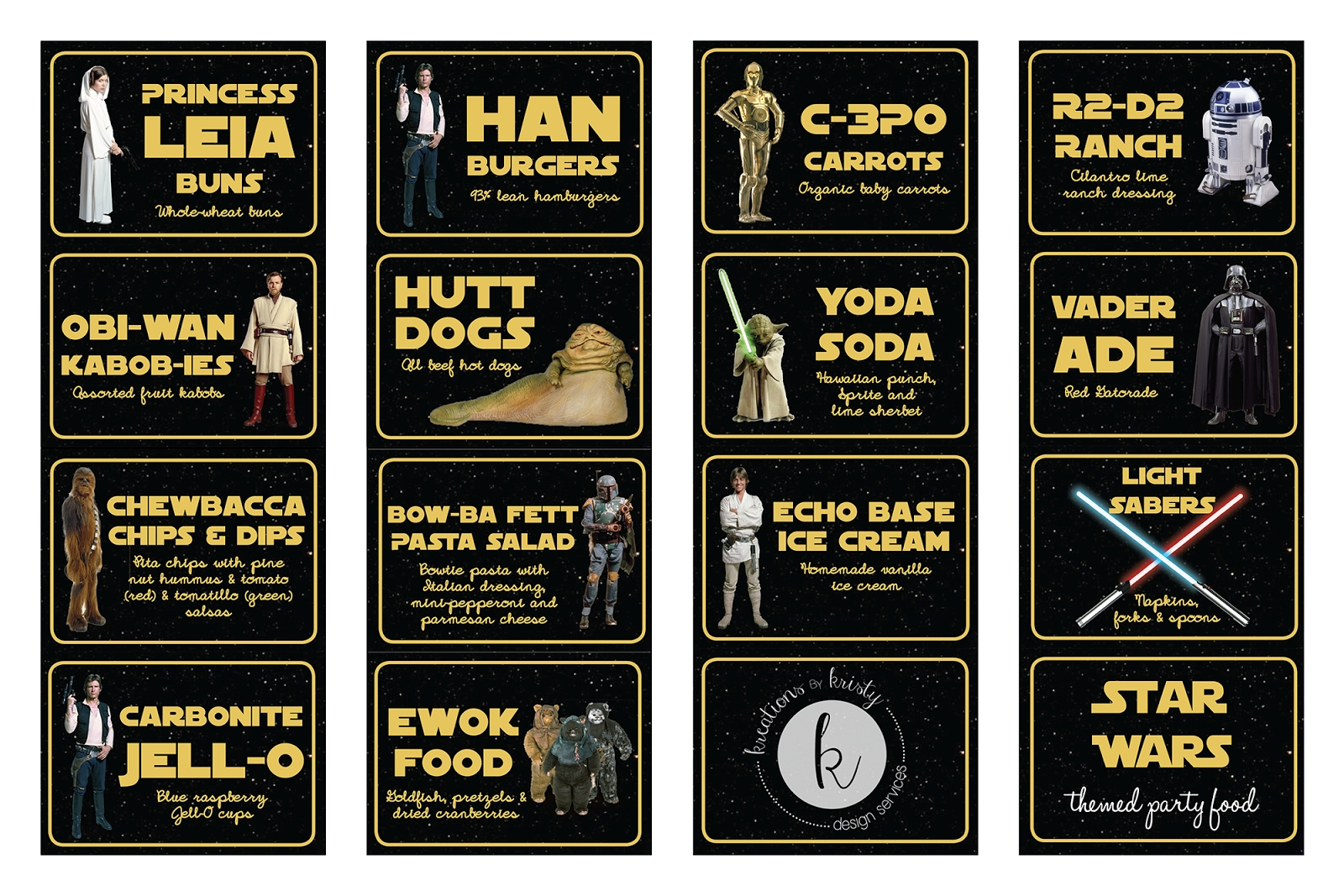 10 Unique Star Wars Party Food Ideas star wars themed party food kreationskristy parties star 2020