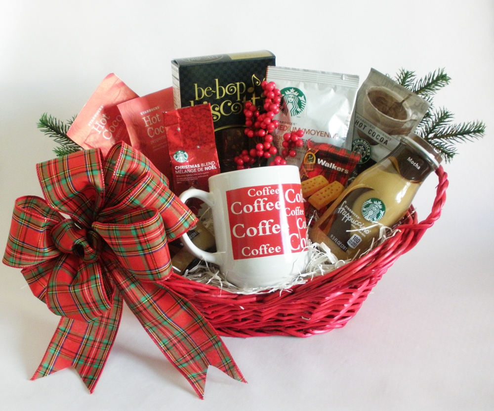 10 Cute Homemade Gift Basket Ideas For Christmas starbucks jingle christmas gift basket christmas gift basket ideas 3 2020