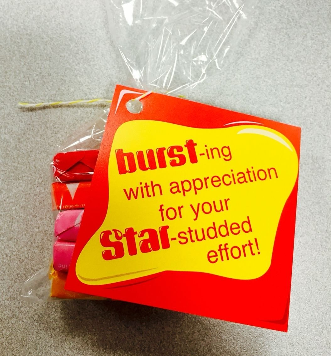 10 Perfect Customer Service Appreciation Week Ideas starburst gift tag customer service week appreciation and 2020