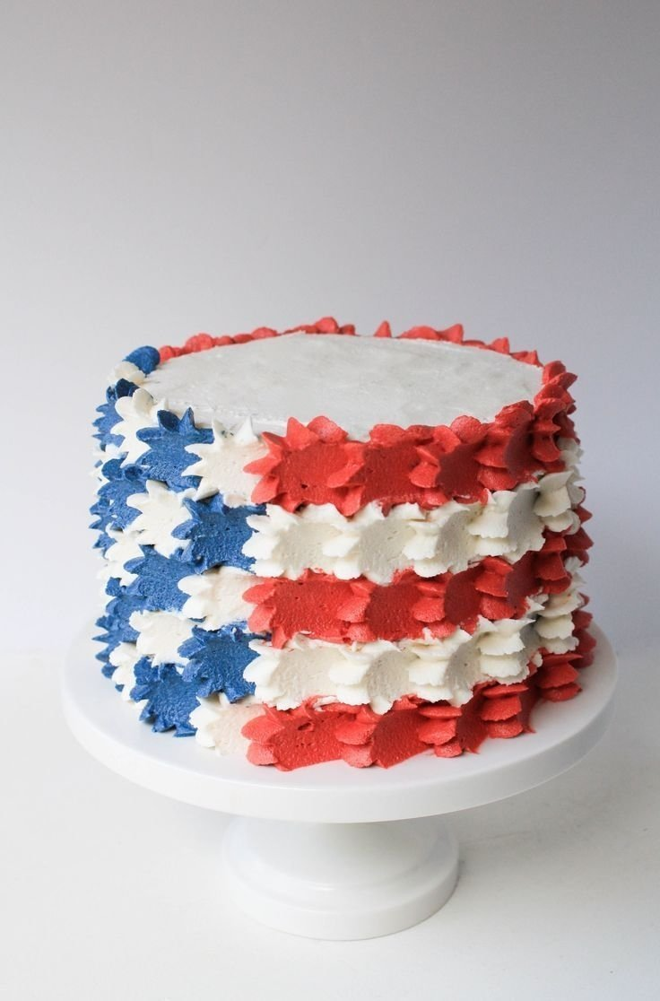 10 Elegant Fourth Of July Cupcake Ideas stars and stripes buttercream 4th of july cake erin bakes 4th of 2020