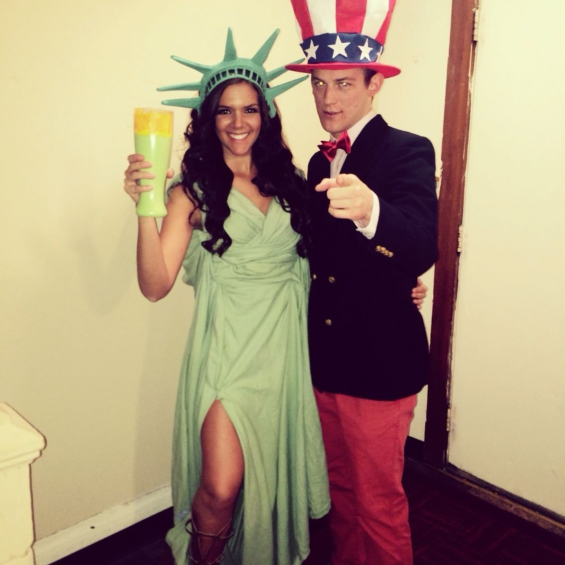10 Trendy Boyfriend And Girlfriend Halloween Costume Ideas statue of liberty and uncle sam boyfriend girlfriend halloween 2020
