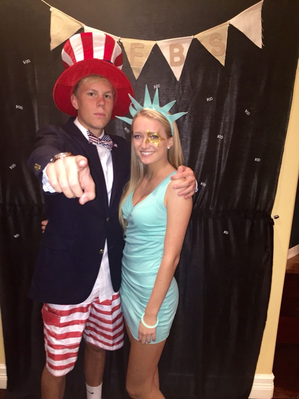 10 Trendy Boyfriend And Girlfriend Halloween Costume Ideas statue of liberty uncle sam costume cute pinterest costumes 2020