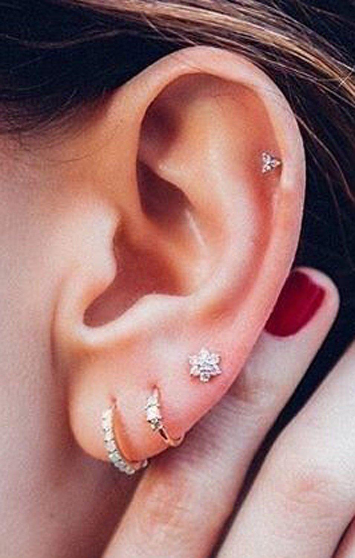 10 Fashionable Cute Piercing Ideas For Girls steal these 30 ear piercing ideas cartilage piercing stud 2021