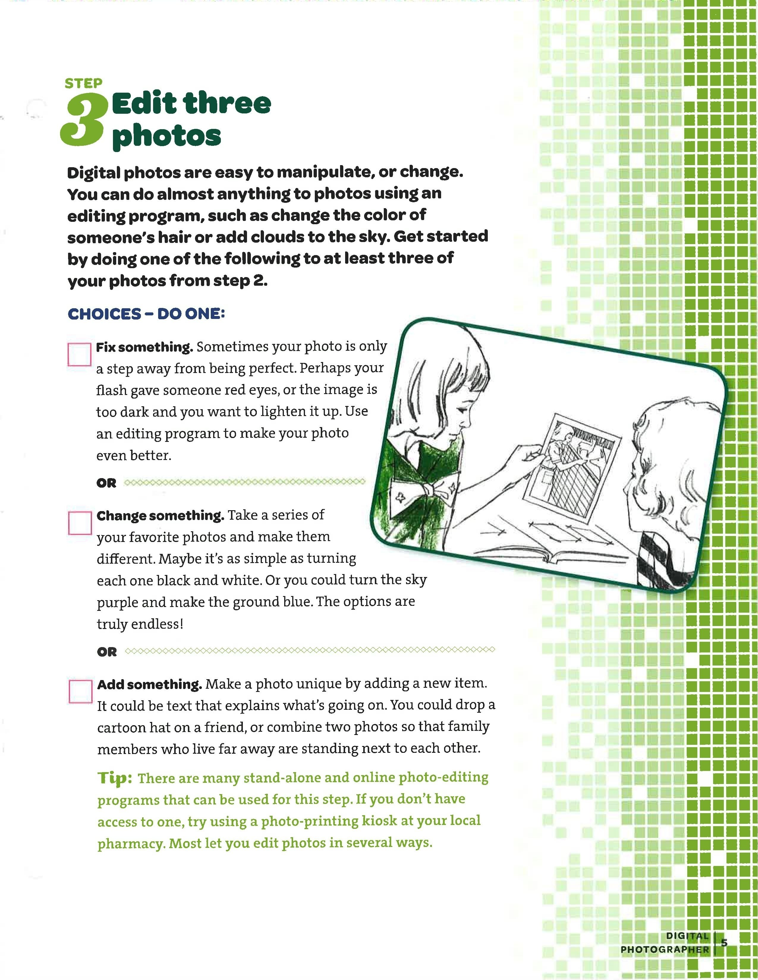 10 Fashionable Girl Scout Field Trip Ideas step 3 junior agent of change digital photographer pinterest 2020