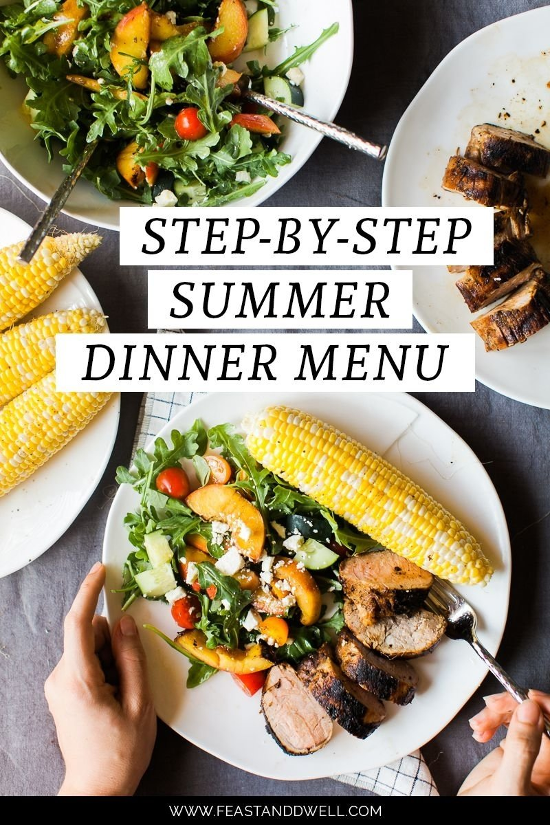 10 Stylish Summer Dinner Party Menu Ideas step by step summer party dinner menu marinated pork grilled 2021