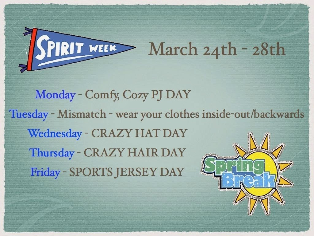 10 Ideal Spirit Week Ideas For Work stevenson school spring break spirit week 1 2021