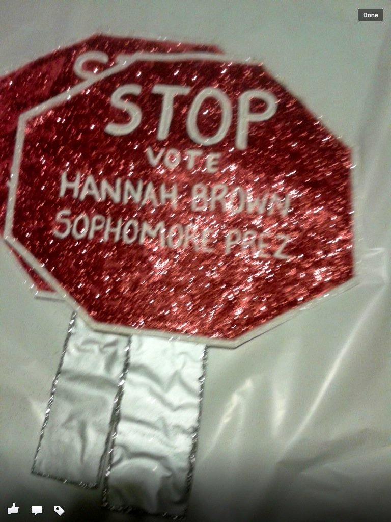 10 Cute Campaign Ideas For High School stop sign high school campaigning pinterest students campaign 2020