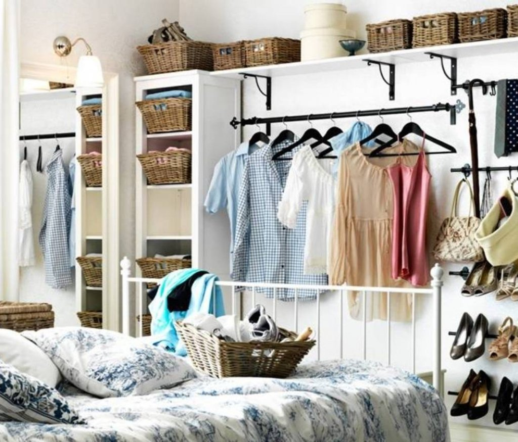 10 Attractive Closet Ideas For Rooms Without Closets storage ideas for small bedrooms without closet pcgamersblog 1 2020