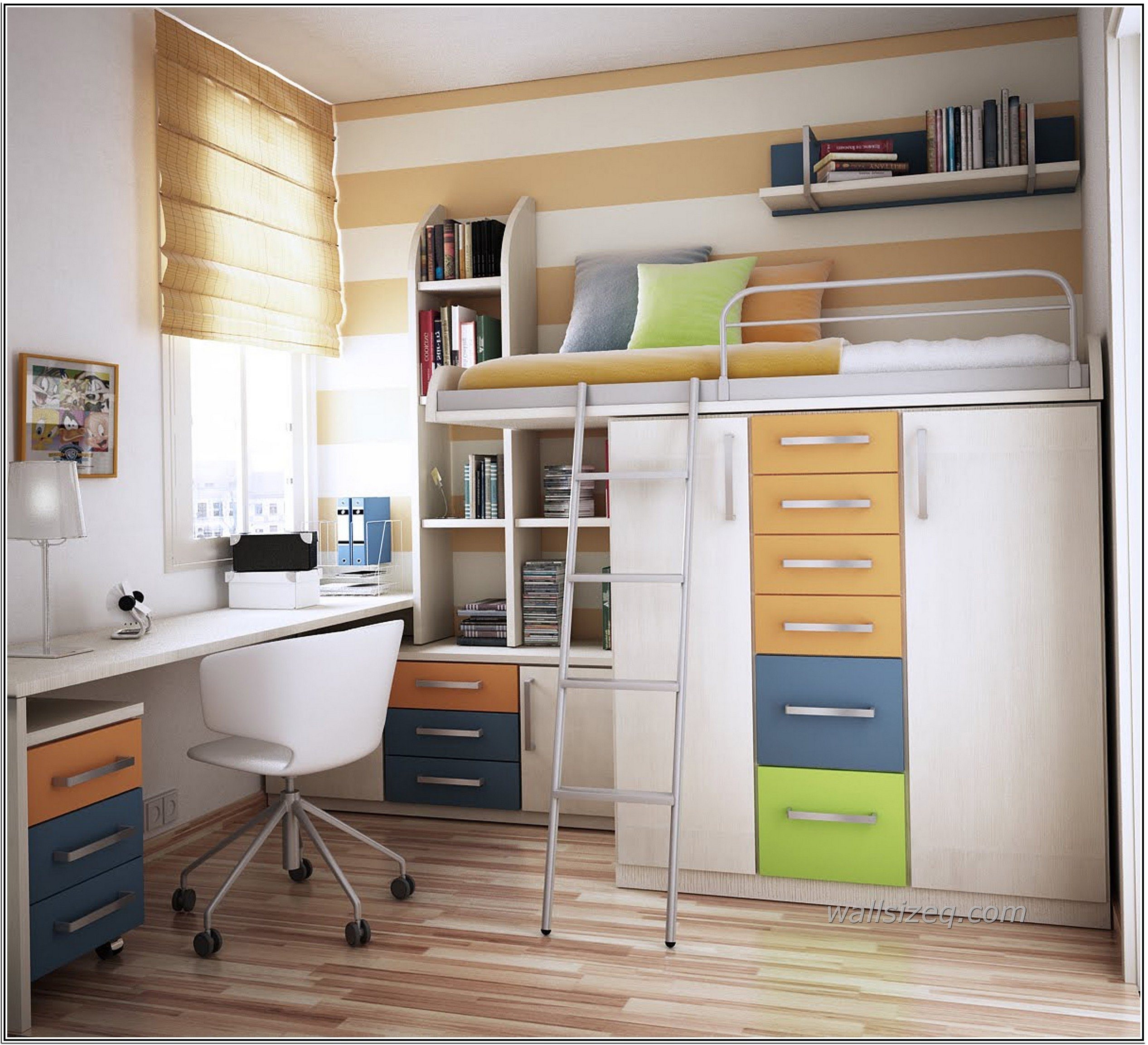 10 Best Space Saving Ideas For Apartments store ideas for small apartment teenage bedroom with loft bed and