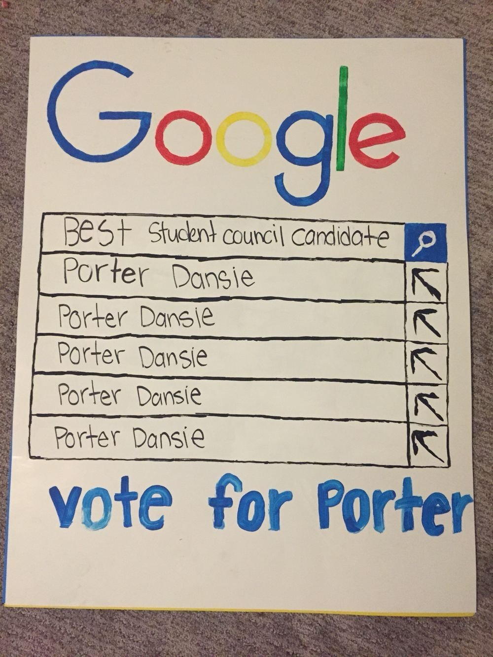 student council poster. google poster. | student council elections