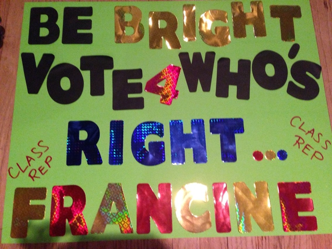 10 Lovely Campaign Ideas For Student Council student council poster ideas franny for office pinterest 2020