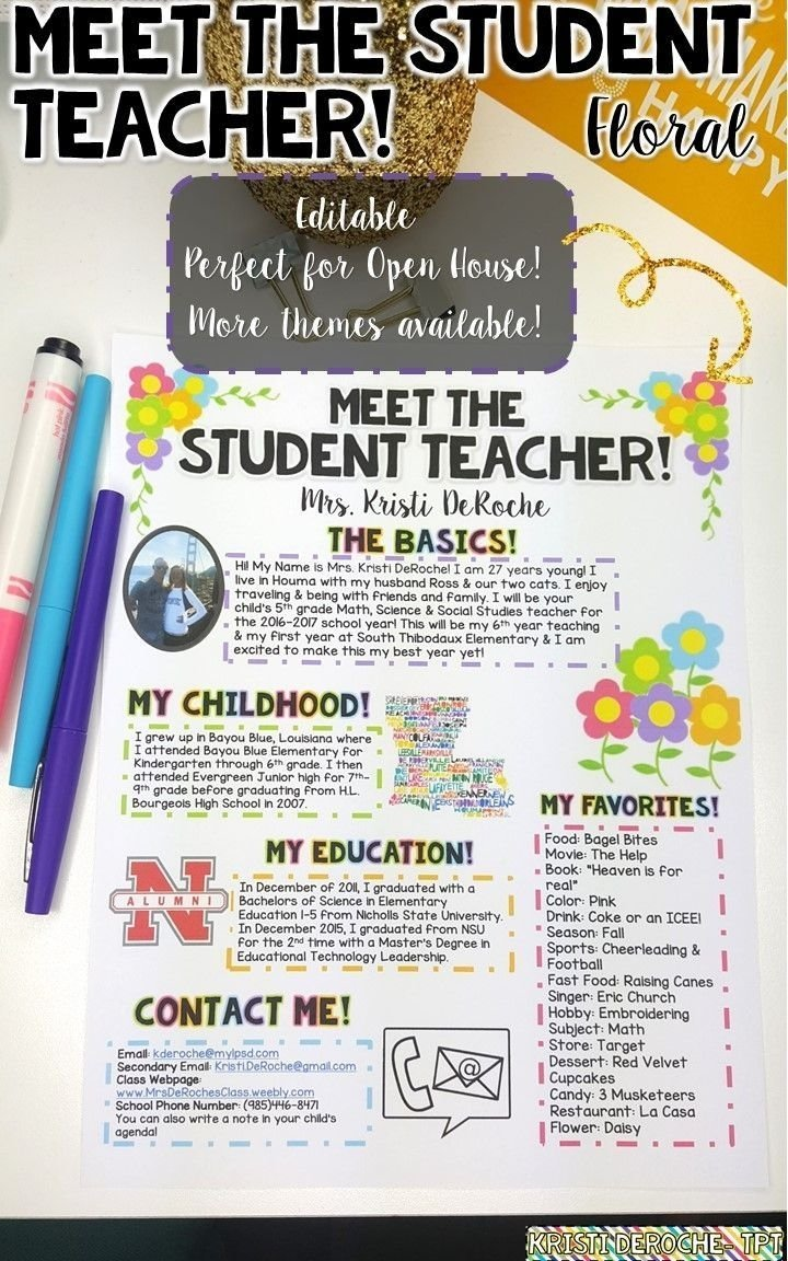 10 Lovely Middle School Open House Ideas student teaching how to thrive as a student teacher student 2020
