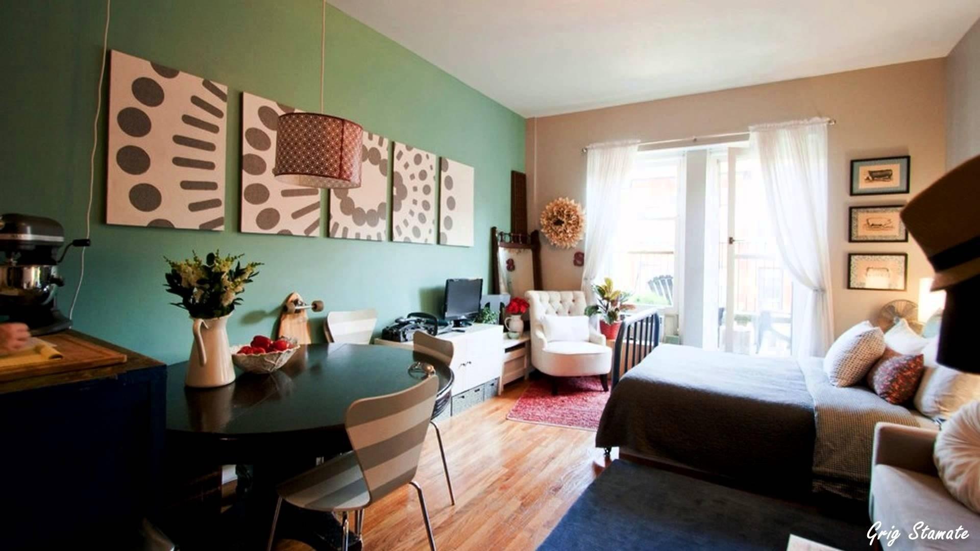 10 Pretty Decorating Ideas For Studio Apartments studio apartment decorating on a budget youtube 2020