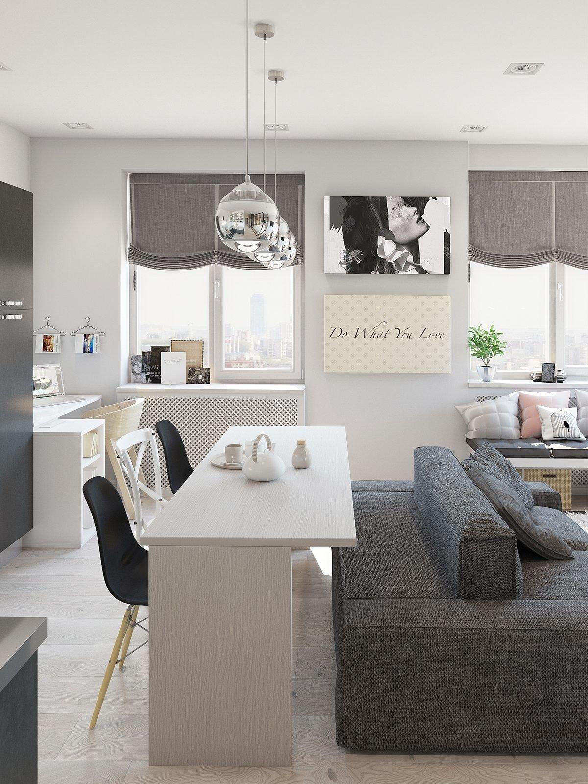 10 Ideal Small Studio Apartment Decorating Ideas studio apartment interior design with cute decorating ideas 1 2020