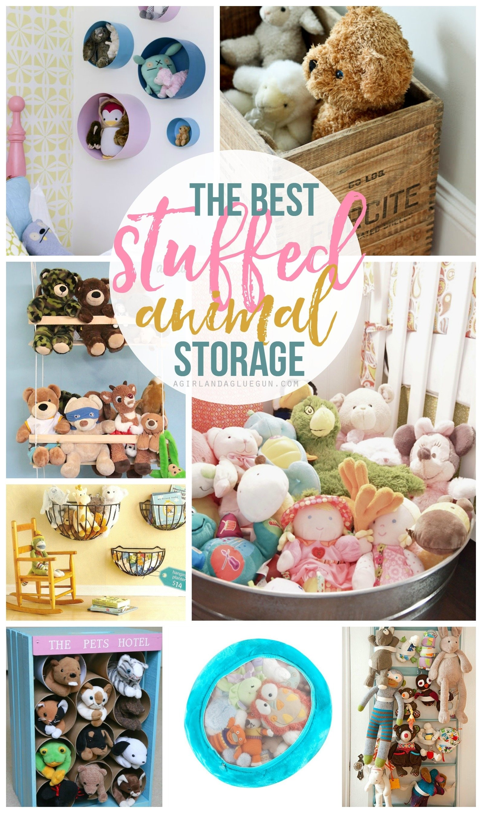 10 Spectacular Ideas For Stuffed Animal Storage stuffed animal storage and organization ideas a girl and a glue gun 1 2021