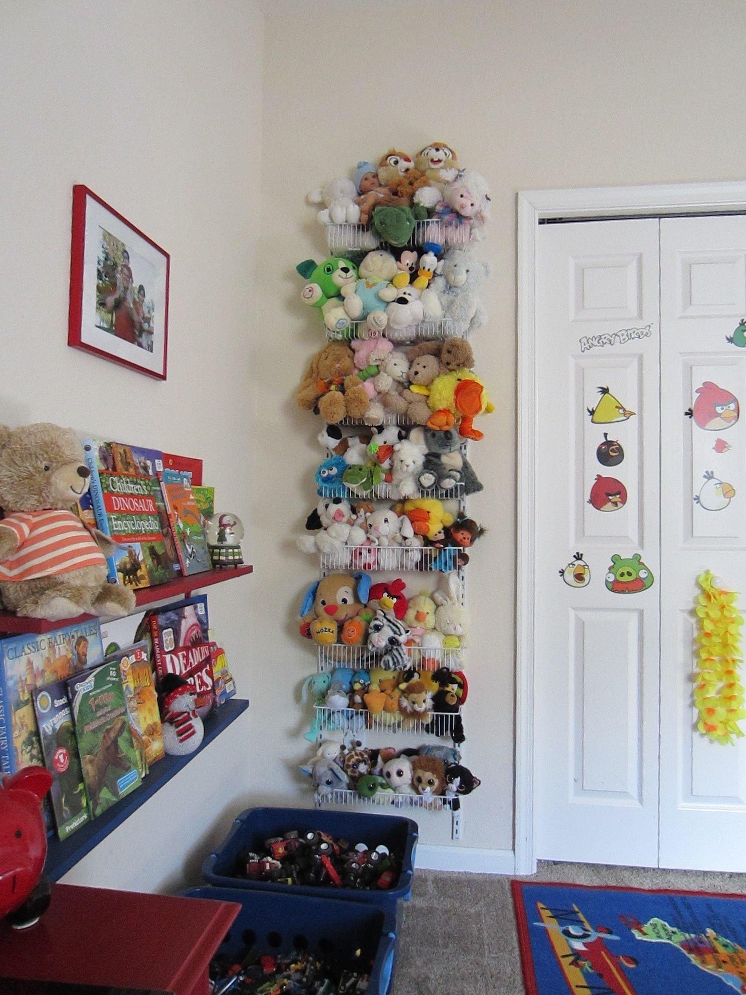 10 Spectacular Ideas For Stuffed Animal Storage stuffed animals storage closet maid 8 tier adjustable door rack 1 2021