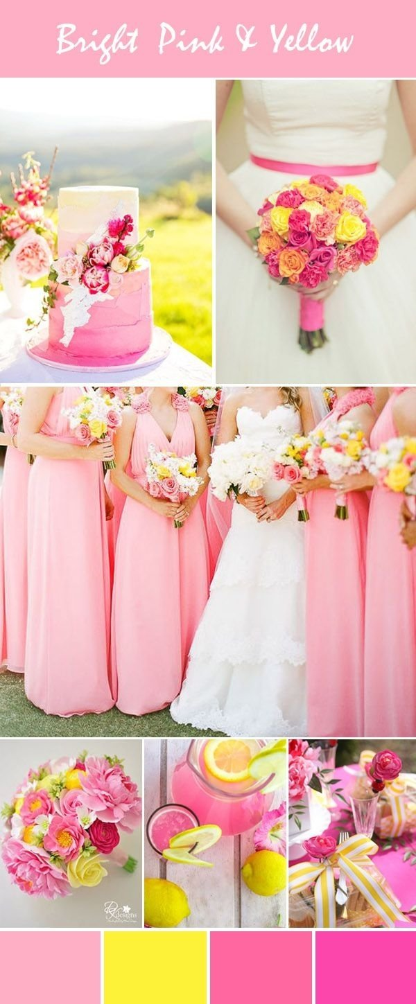 10 Attractive Pink And Orange Wedding Ideas stunning bright pink wedding color ideas with invitations for spring