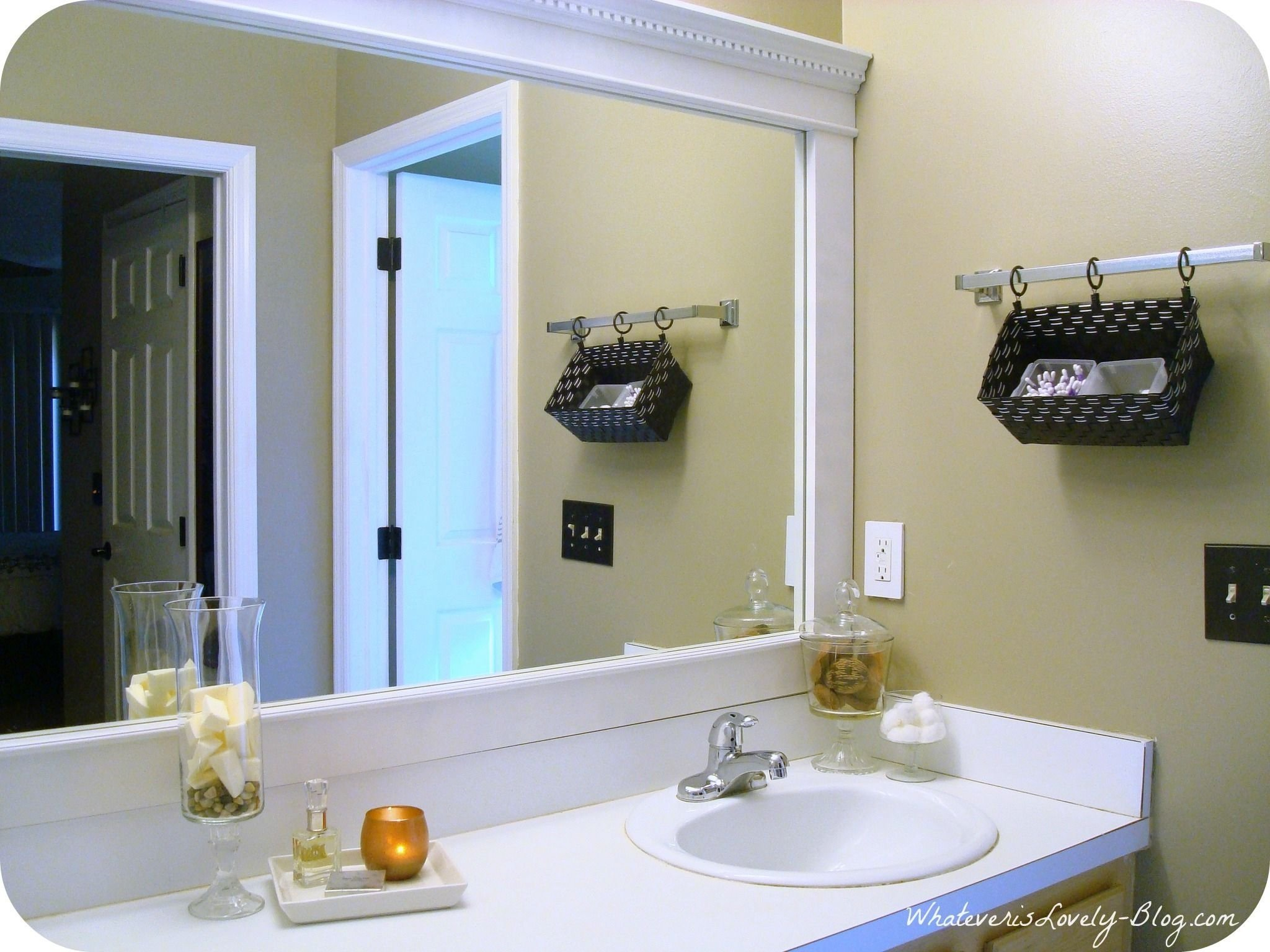 10 Lovable Diy Bathroom Mirror Frame Ideas stunning diy framing large bathroom mirror u of frame ideas styles 2020