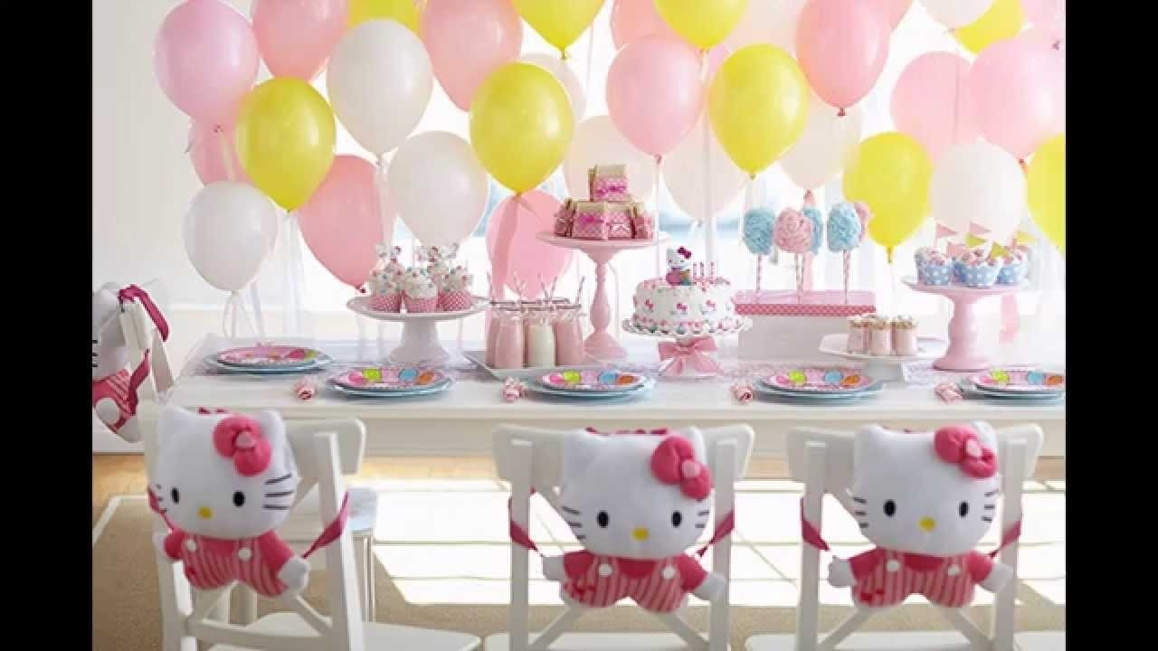 stunning hello kitty birthday party decoration ideas - youtube